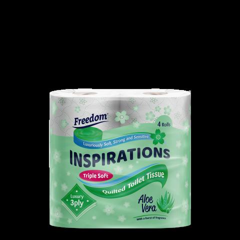 Inspirations 4 Pack Aloe Vera 3 Ply