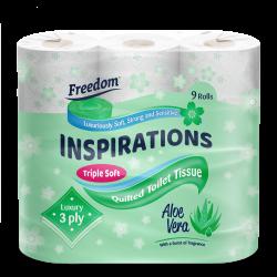 Inspirations 9 Pack Aloe Vera 3 Ply