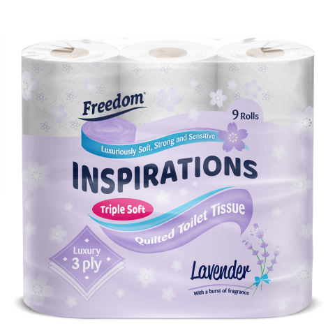 Inspirations 9 Pack Lavender 3 Ply