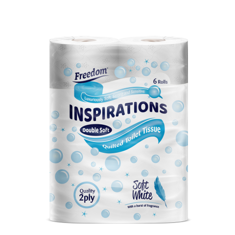 Inspirations 6 Pack Soft White 2 Ply