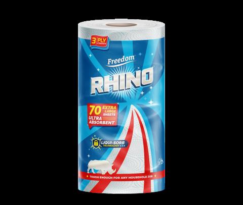 Rhino 3 Ply Single Roll 70 Sheets